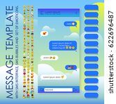 message template with sms... | Shutterstock .eps vector #622696487