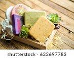 spa soap handmade robots in a... | Shutterstock . vector #622697783
