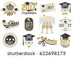 set of class of 2017 badges.... | Shutterstock . vector #622698173