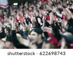 football fans clapping on the... | Shutterstock . vector #622698743