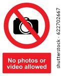 red prohibition sign isolated... | Shutterstock .eps vector #622702667