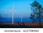 two wind farms dawn  energy... | Shutterstock . vector #622708583