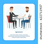 two young businessmen reaching... | Shutterstock .eps vector #622711937