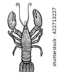 lobster hand drawn sketch style ... | Shutterstock .eps vector #622713227