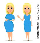 mothers day. cute pregnant... | Shutterstock .eps vector #622717373