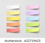 set of office paper sheets or... | Shutterstock .eps vector #622719623