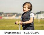 outdoor portrait of cute young... | Shutterstock . vector #622730393