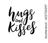 hugs and kisses  xoxo lettering.... | Shutterstock .eps vector #622733297