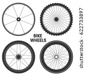 bicycle wheel symbol vector.... | Shutterstock .eps vector #622733897