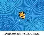 versus letters fight... | Shutterstock .eps vector #622734833