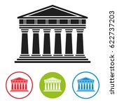 bank  courthouse  parthenon... | Shutterstock .eps vector #622737203