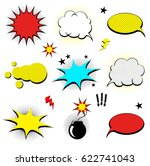 comics cloud. vector comic... | Shutterstock .eps vector #622741043