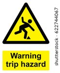 black and yellow warning sign... | Shutterstock .eps vector #622744067