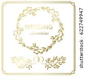 wedding decoration border. hand ... | Shutterstock .eps vector #622749947
