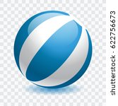 beach ball isolated vector... | Shutterstock .eps vector #622756673