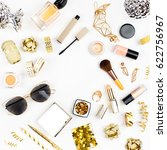 female cosmetics collage with... | Shutterstock . vector #622756967