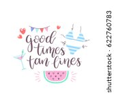 summer design sticker with... | Shutterstock .eps vector #622760783