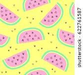 tropical summer seamless... | Shutterstock .eps vector #622761587