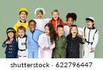 group of diverse kids wearing... | Shutterstock . vector #622796447