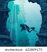 underwater vector illustration. ... | Shutterstock .eps vector #622809173