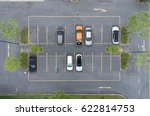 empty parking lots  aerial view. | Shutterstock . vector #622814753