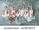 healthy summer dessert. blood...   Shutterstock . vector #622819073