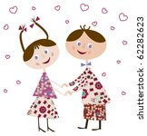 first young love   vector... | Shutterstock .eps vector #62282623