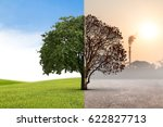 the concept of climate has... | Shutterstock . vector #622827713