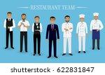 restaurant team concept. group... | Shutterstock .eps vector #622831847