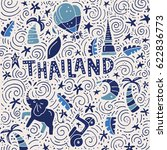 vector illustration of thailand.... | Shutterstock .eps vector #622836773