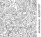 seamless pattern with symbols... | Shutterstock .eps vector #622837247