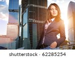 portrait of young businesswoman ... | Shutterstock . vector #62285254