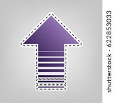 arrow up icon. vector. violet... | Shutterstock .eps vector #622853033