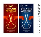 grand opening banners... | Shutterstock .eps vector #622860653