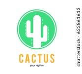 cactus logo icon symbol    Shutterstock .eps vector #622861613
