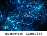 2d rendering cloud computing ... | Shutterstock . vector #622863563