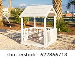 playground on yard in the park. | Shutterstock . vector #622866713