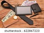 accessories business men tablet ... | Shutterstock . vector #622867223