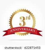 3rd golden anniversary logo... | Shutterstock .eps vector #622871453