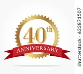 40th golden anniversary logo... | Shutterstock .eps vector #622871507