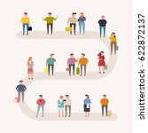 people on street vector... | Shutterstock .eps vector #622872137