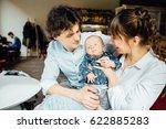 young happy family spending... | Shutterstock . vector #622885283