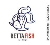 betta fish logo icon symbol   Shutterstock .eps vector #622898657
