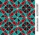 vector seamless mosaic pattern. ...   Shutterstock .eps vector #622901087