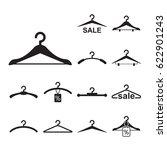 simple black clothes hanger... | Shutterstock .eps vector #622901243