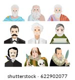 great writers and philosophers... | Shutterstock .eps vector #622902077