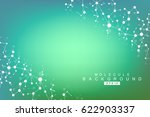 structure molecule and... | Shutterstock .eps vector #622903337