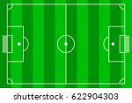 top view of soccer field or... | Shutterstock .eps vector #622904303