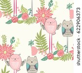 seamless pattern with funny... | Shutterstock .eps vector #622906373