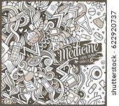 cartoon cute doodles hand drawn ... | Shutterstock .eps vector #622920737